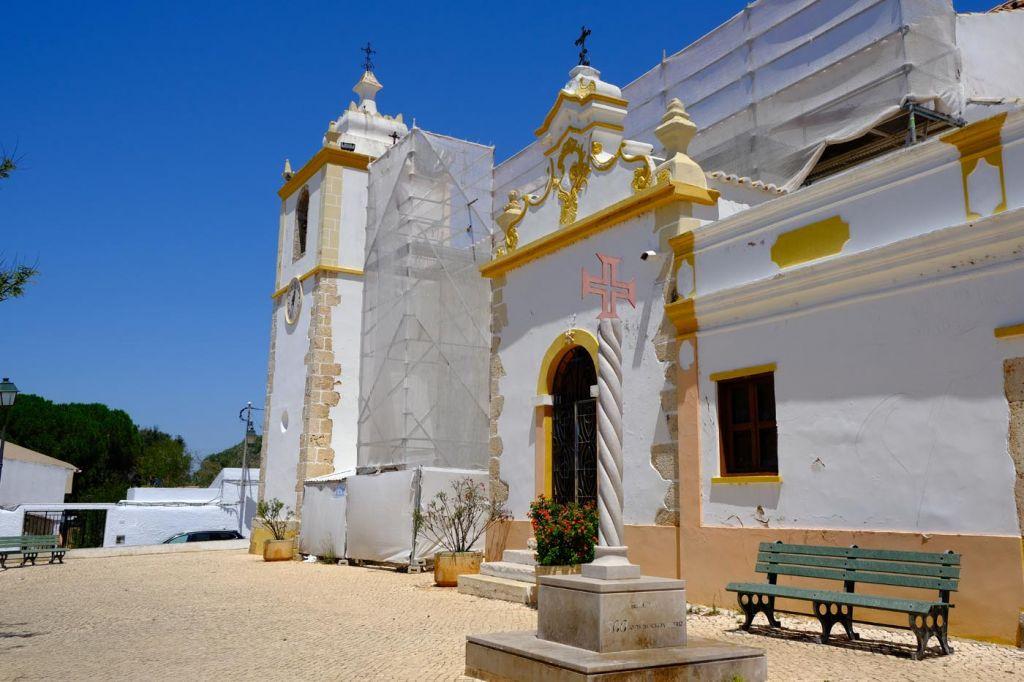 Shows a historic church exterior