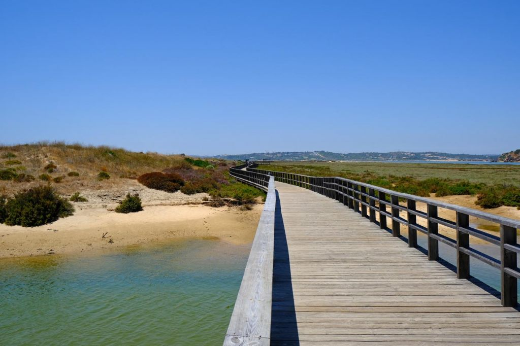 Top Alvorr attractions - Shows a walkway over the river mouth