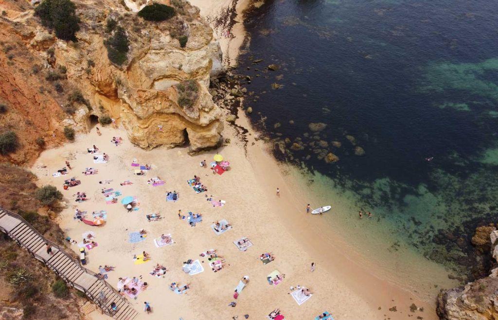 Praia Do Camilo beach from above - Best Algarve beaches
