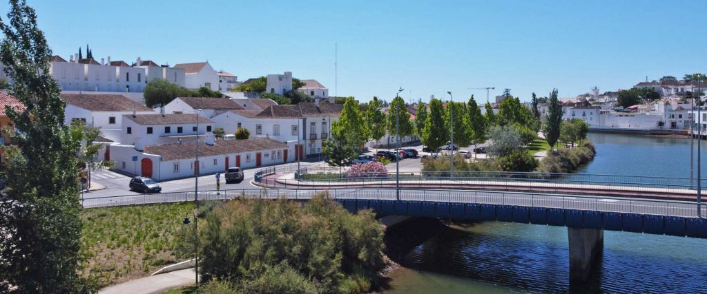 The best things to do in Tavira - Shows a bridge leading to Tavira town