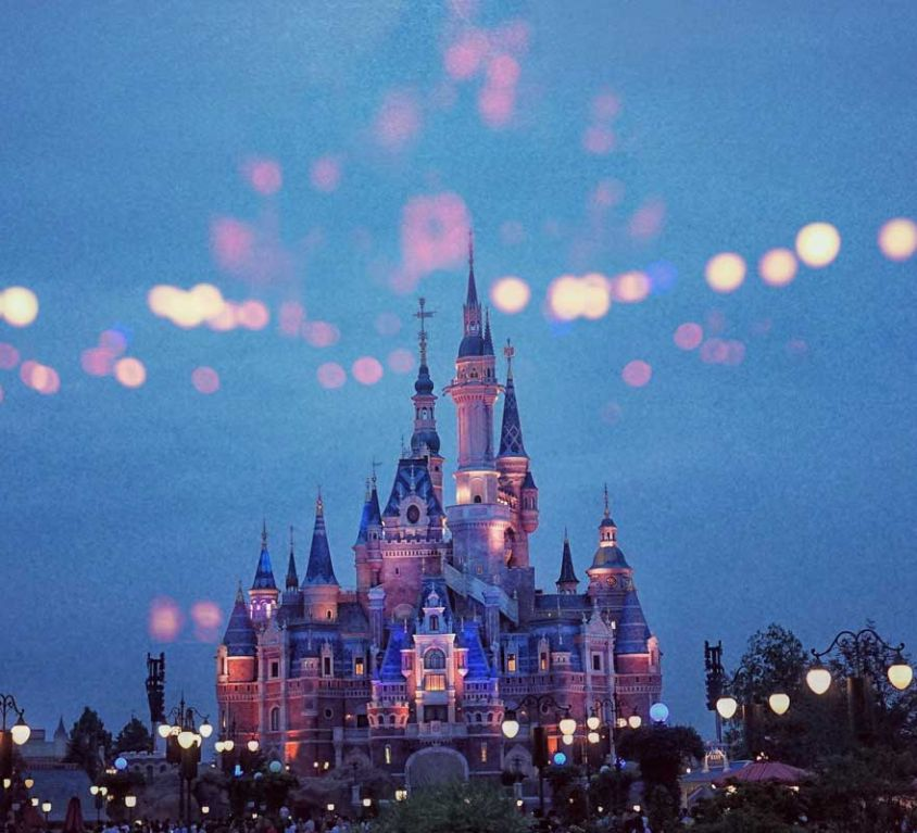 Best Disney World hotels for adults - Shows Magic Kingdom castle at night